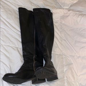 Michael Kors Over The Knee Leather Boots Size 9